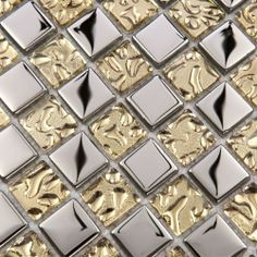 small mosaic mirrored tile from Ali Express