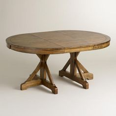 One of my favorite discoveries at WorldMarket.com: Round X-Base Extension Table