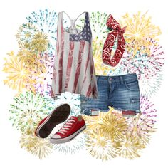 4th of July,Baby Your A Firework, created by sfcaputo on Polyvore