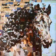 "Drambuie. Collage on Canvas. 30"" x 30""Artist Samuel Price 2011. SOLD"
