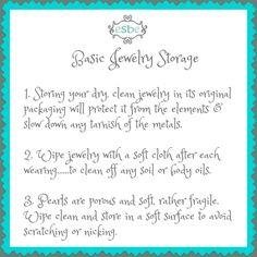 some basic jewelry storage ideas.