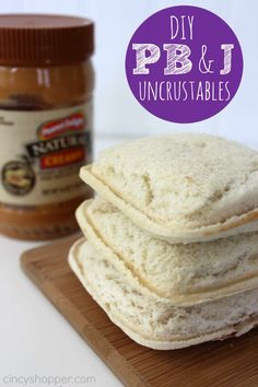Uncrustables are so easy to make and toss in the freezer so they are ready for those snacks or lunchboxes.