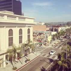 Rodeo Drive, looking north from Luxe Rodeo Drive Hotel's Penthouse.