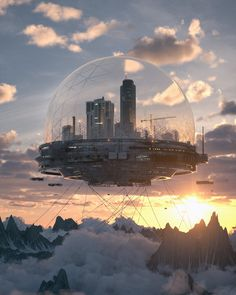 Art featuring all things futuristic. Whether it's retro or advanced technology, utopian cityscapes or ruined warscapes, if there's a Sci-Fi. Cyberpunk City, Cyberpunk Kunst, Futuristic City, Futuristic Architecture, Fantasy City, Fantasy Places, Fantasy World, Dystopian Art, Bühnen Design