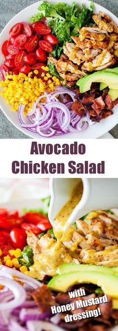 Made it. Loved it. Always a winner! #salad #chickensalad #avocadosalad #honeymustard