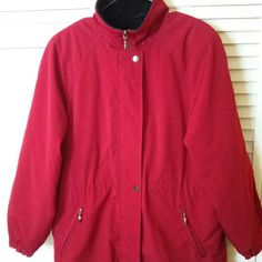 "Liz Claiborne Winter Coat Dark Red - Size ""S"" But Fits M Perfectly Like New! Excellent Conditions!  Used 2/3 Times! No stain. Liz Claiborne Jackets & Coats"