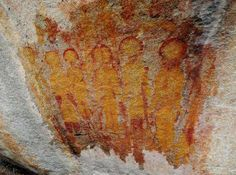 """10,000 Year old rock paintings of images of UFOs and alien beings called the """"Rohela people"""" have been found in India recently...... http://sparksterhubs.blogspot.co.uk/2015/03/10000-yr-old-ufo-paintings-found-in.html #UFO #ufology"""