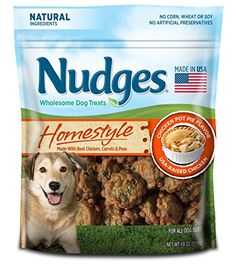 Dog Treat Animal Ears - Nudges Homestyle Carrots  Peas Pot Pie Made with Real Chicken 18 oz *** See this great product. (This is an Amazon affiliate link)