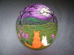 Handmade-needle-felted-brooch-Gift-Ginger-and-Kitt-by-Tracey-Dunn