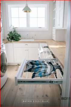 pull out drying racks // great option for when you dont have the space for hanging rods