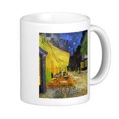 ハンドメイドマーケット minne(ミンネ)| フィンセント・ファン・ゴッホ『 夜のカフェテラス 』のマグカップ