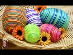 Velikonoční vajíčka z příze - YouTube