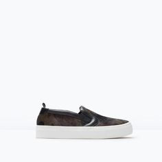 CAMOUFLAGE LEATHER SNEAKERS-Flats-Shoes-WOMAN | ZARA United States