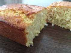 Zesty lemon and coconut loaf, just 120 calories per slice!