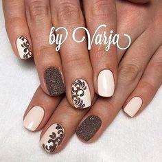 40 Easy Amazing Nail Designs For Short Nails - Nägel - Nageldesign Fancy Nails, Diy Nails, Cute Nails, Pretty Nails, Fabulous Nails, Gorgeous Nails, Short Nail Designs, Nail Art Designs, Nails Design