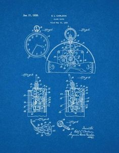 Engine blueprint google search blueprints pinterest engine alarm clock patent print art poster blueprint 11 x malvernweather Image collections