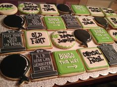 Over the Hill Themed Sugar Cookies