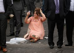 Racegoers arrive for 'Ladies Day' at the Grand National horse race meeting at Aintree in Liverpool Classy!!!!