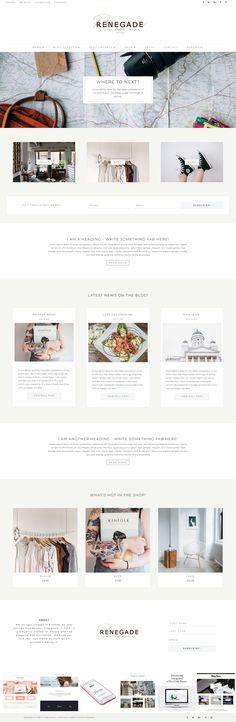 Renegade - A Divi Child Theme I Divi WordPress Blog Layout