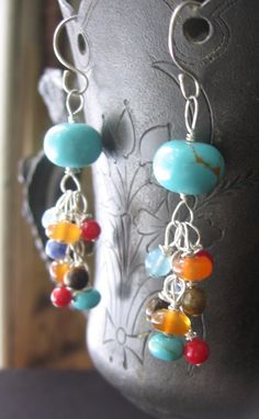 Beautiful beaded earrings <3