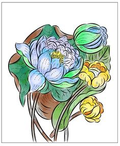 Nicole's Free Coloring Pages Flower Coloring Pages, Free Coloring Pages, Winter Princess, Metal Embossing, Mysterious Girl, Modern Princess, Baby Goats, Yellow Leaves, Henna Mehndi