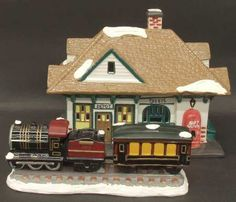 Village Station And Train-Set