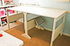 If you're a crafter of any kind, a proper work space is a dream. We've all seen photos of long lavish tables where you could work without being disturbed, but unless you rent your own studio, that's not always a reality. Instead, try making one of these expandable craft tables for all your diy needs.