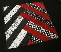 This combination of colors make this block a real knock-out.   Hills Creek Quilter: Modern BOM Block 7