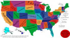 Find out the best movie ever to take place in your state with this handy map.