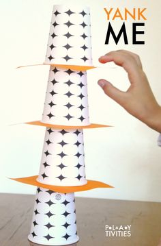 This minute to win it game with cups will entertain either one child or the whole family! Super fun!