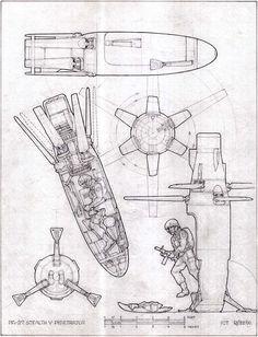 Drop pod by Ron Cobb? Spaceship Design, Robot Design, Character Concept, Concept Art, 3d Character, D20 Modern, Arte Cyberpunk, Sci Fi Weapons, Found Object Art
