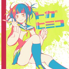 Himiko Toga in neon colours Boku No Hero Academia, My Hero Academia Manga, Akira, Manga Anime, Anime Art, Anime Group, Himiko Toga, Animes Yandere, Best Waifu