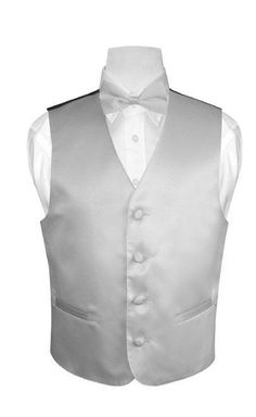 Boy/'s Solid Red Polyester Vest with Necktie and Bowtie for Formal Occasions
