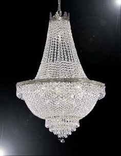 """For the Sitting Area - French Empire Crystal Chandelier Chandeliers Lighting H30"""" X W24"""""""