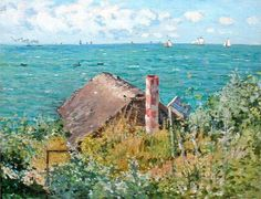 Claude Monet - The Cabin At St Adresse (1867)