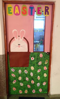 Easter school door decoration