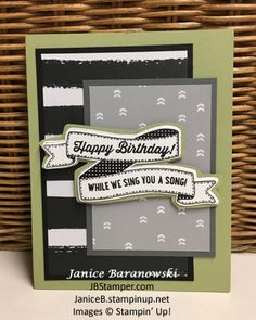 Another Great Year, Birthday Banners stamps & Dies, Go Wild DSP, Happy birthday, JB Stamper, Stampin' Up!