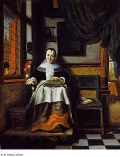 Nicolas Maes (1634 - 1693) The Virtuous Woman Netherlands c. 1655