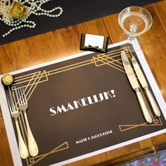 Placemats | Roaring Twenties #verjaardag #housewarming #birthday #placemats #greatgatsby #party #Beaublue