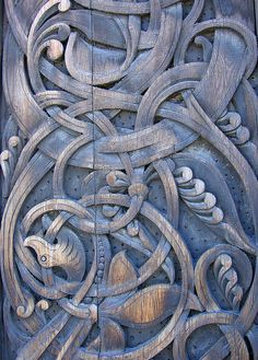 Carved wood detail - Biologiska Museet by chocolatelikesnow on Flickr.