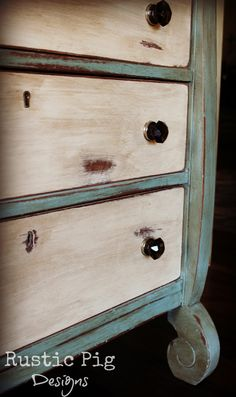 The Rustic Pig: An Empire Dresser Makeover