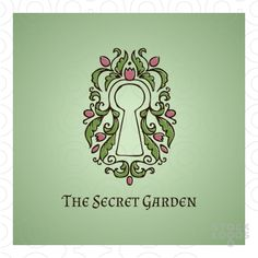 """An ornate keyhole. The logo is designed in two styles: a """"clean"""" more colourful style with smooth curves, and a hand-drawn rustic style. Key words and ideas: secret land, promised land, desire, Eden, vacation, holiday, villa, spa, luxury, resort, hi-end, dream, dream come true, mysterious, beautiful, lush, bloom, blooming, blossom, leaves, vines, curls, feminine, women, fragrance, sweet, bouquet, erotic, playful, design, home, interior."""