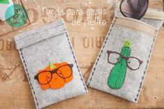 Regalos de San Valentín: funda para gafas de fieltro | Aprender manualidades es facilisimo.com