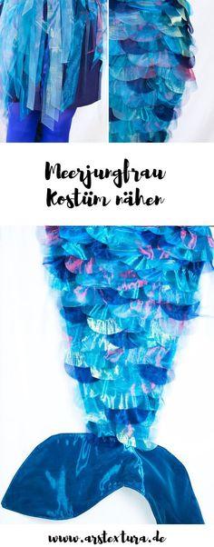 DIY Meerjungfrau Kostüm nähen | DIY Mermaid costume
