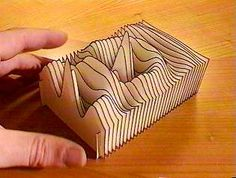 Paper and Plotter: A 3D Surface. Paul Haeberli. Repinned by Elizabeth VanBuskirk on Teaching about the Incas. Inspiration for expressing the idea of elevations in the Andes where there are high peaks, tall mountais, low mountains, valleys, altiplano, jungle low lands.