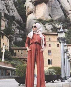 hijab rusty jumpsuit- Eid hijab ready to wear http://www.justtrendygirls.com/eid-hijab-ready-to-wear/