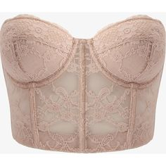 Strapless Lace Corset ($11) ❤ liked on Polyvore
