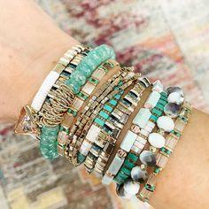 "Beaded Jewelry of Instagram on Instagram: ""Reposted from @erimish . . #beadedjewelryofinstagram #abeadedlife #braceletlover #bracelets #braceletstack #braceletstacks…"" Erimish Bracelets, Bangles, Hippie Style, Jewelry Crafts, Turquoise Bracelet, Boho Chic, Beaded Jewelry, Fashion Jewelry, Band"