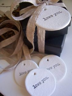 salt dough tags to put on favours These would be cute at baby showers, birthday parties, weddings, all kinds of events!