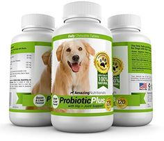 Probiotics For Dogs - Plus Hip + Joint Support, 120 Tablets. Get the Best and Only Dog Probiotic that Treats Both Diarrhea and Arthritis Pain Relief in Delicious Bacon and Liver Flavored Chewable Tablets Your Pet Will Love! http://www.amazon.com/dp/B00KTY7W94/ref=cm_sw_r_pi_awdm_R1YXtb1WBK0DR